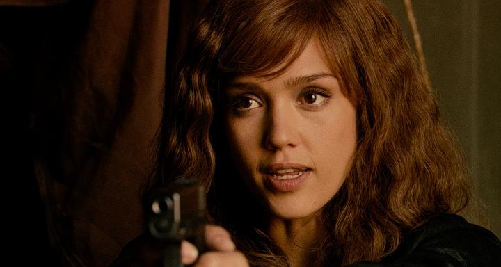 Jessica Alba with gun - Machete 2010