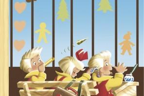 Kidilecture de saison : Les Triplés à l'école